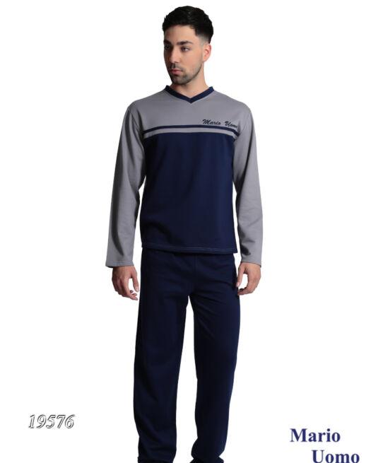 Mario-Uomo-19576-man-pyjamas-blue-grey