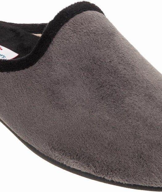 ADAMS-70120505-mens-slippers-pantofles-warm-cozy-cute-soft-velvet-grey-black