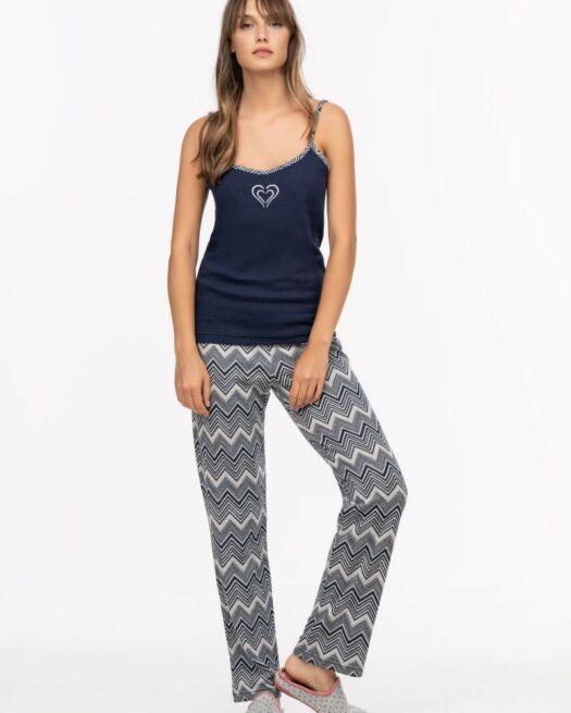 Giota-3031-woman-set-trio-pyjamas-geometrical-heart-blue-elegant-cute-homewear-2