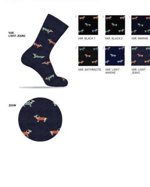 ENRICO-COVERI-LEAFLINE218-mens-socks-casual-dog-multicolor